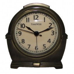 Alarm Clock - Antero Metal Alarm Clock Antique Brass