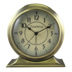 Alarm Clock - Collegiate Metal Alarm Clock Bushed Gold