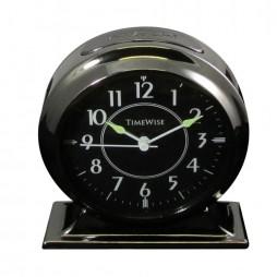 Alarm Clock - Collegiate Metal Alarm Clock Gunmetal Black