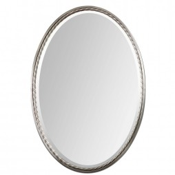 Uttermost Casalina Nickel Oval Mirror 01115