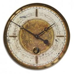 "Leonardo Script 18"" Cream Wall Clock 06006"