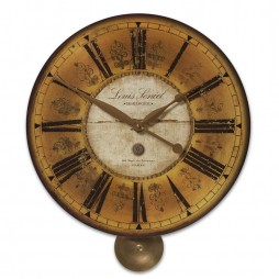 Uttermost Louis Leniel Cream & Gold Wall Clock 06034
