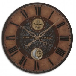 "Simpson Starkey 23"" Wall Clock 06038"