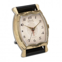 Wristwatch Square Grene Alarm Clock 06074