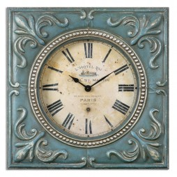 Canal St. Martin Square Wall Clock 06422
