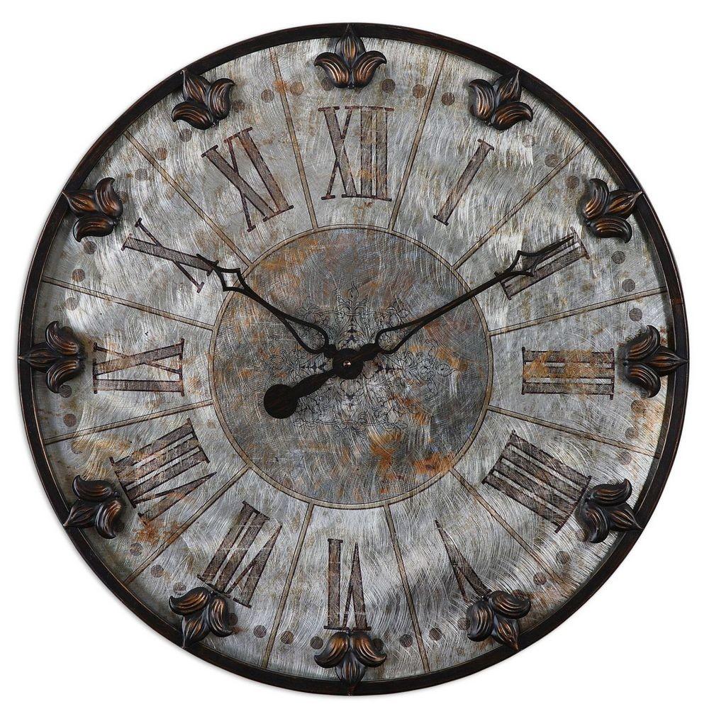 Clocks Uttermost Artemis Antique Wall Clock 06643