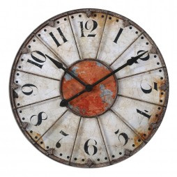"Ellsworth 29"" Distressed Wall Clock 06664"
