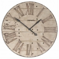 "Uttermost Harrington 36"" Wooden Wall Clock 06671"