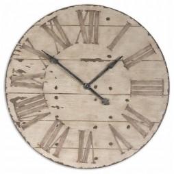 "Uttermost Harrington 36"" Wooden Wall Clock 06671"