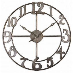 Delevan Large Wall Clock with Open Design 06681