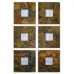 Ambrosia Squares Mirror Set 2 07058