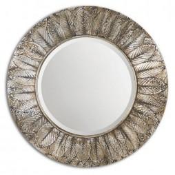 Foliage Round Silver Leaf Mirror 07065