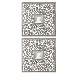 Colusa Squares Silver Mirror Set/2 07622