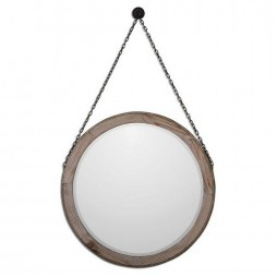 Loughlin Round Wood Mirror 7656