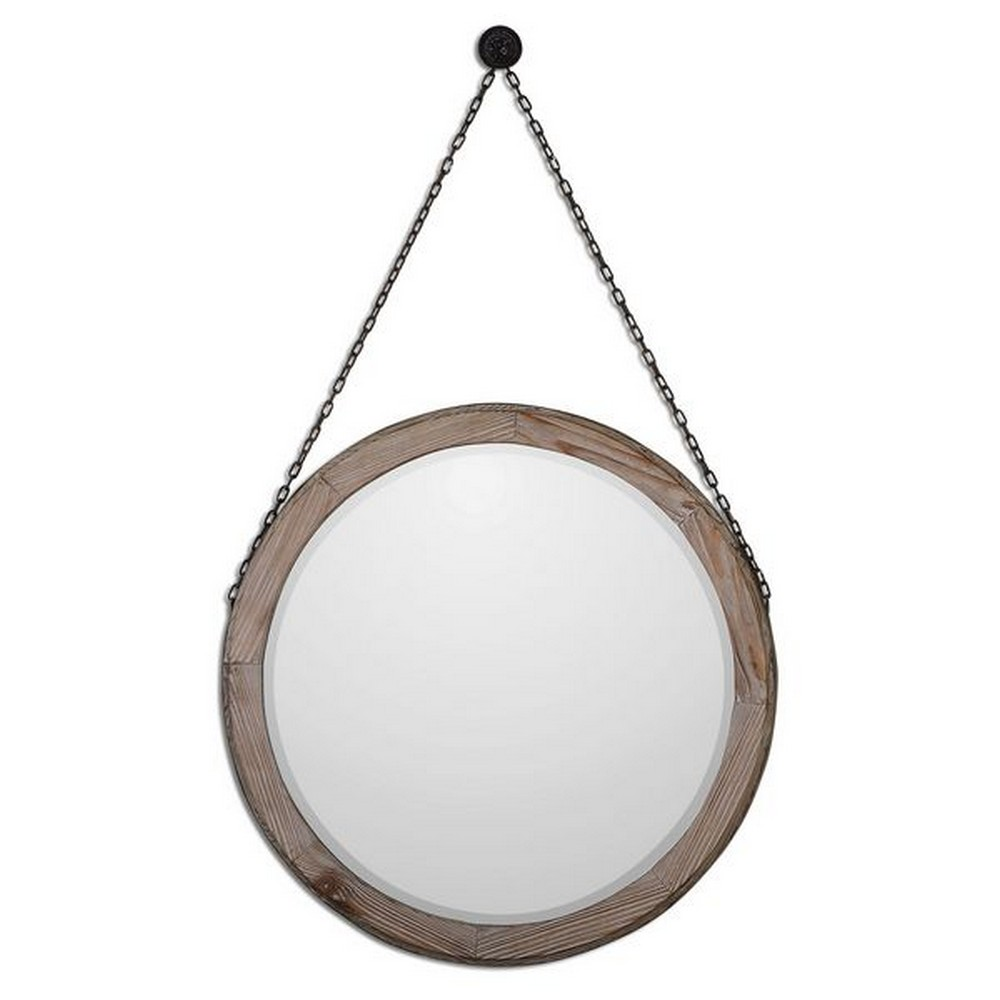 Mirrors Uttermost Loughlin Round Wood Mirror 07656