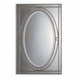 Earnestine Antique Silver Mirror 08055 B