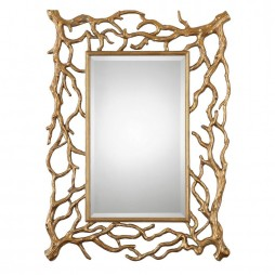 Sequoia Gold Tree Branch Mirror 8131