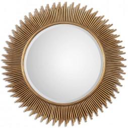Marlo Round Gold Mirror 8137
