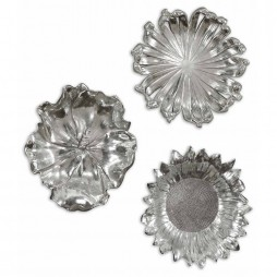 Silver Flowers Wall Art