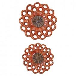 Carilla Ceramic Medallions S/2 8505