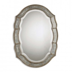 Fifi Etched Antique Gold Mirror 12530 B