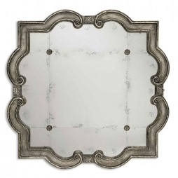 Prisca Distressed Silver Mirror Small 12597 P