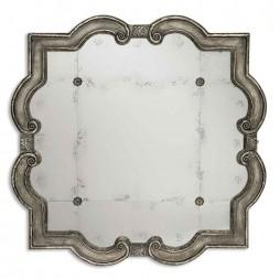 Prisca Distressed Silver Mirror Small 12597 P