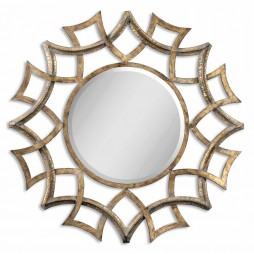 Demarco Round Antique Gold Mirror 12730 B