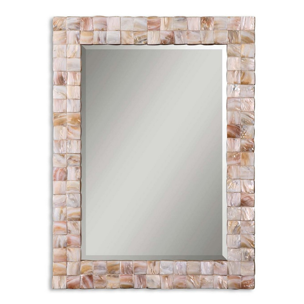 27 In X 27 In Rustic Mother Of Pearl Wall Decor 41121