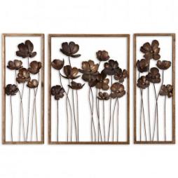 Metal Tulips Wall Art Set/3 12785