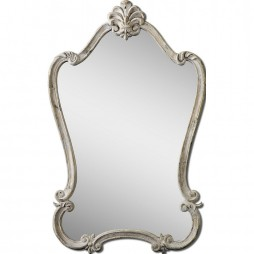 Walton Hall Antique White Mirror 12833