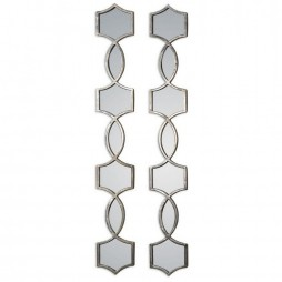 Vizela Metal Mirrors Set/2 12856