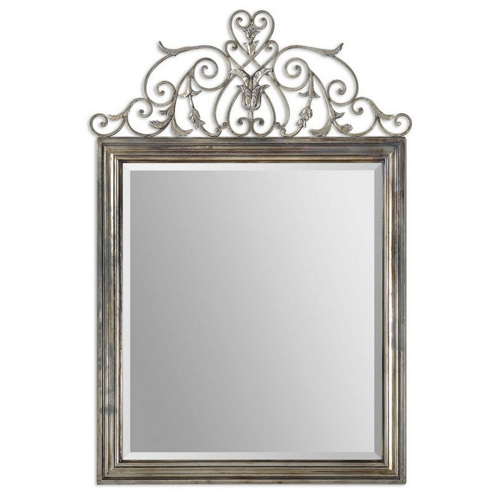Mirrors uttermost kissara metal mirror 12865 for Metal miroir