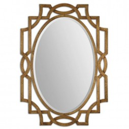 Margutta Gold Oval Mirror 12869