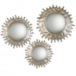 Rain Splash Round Mirrors