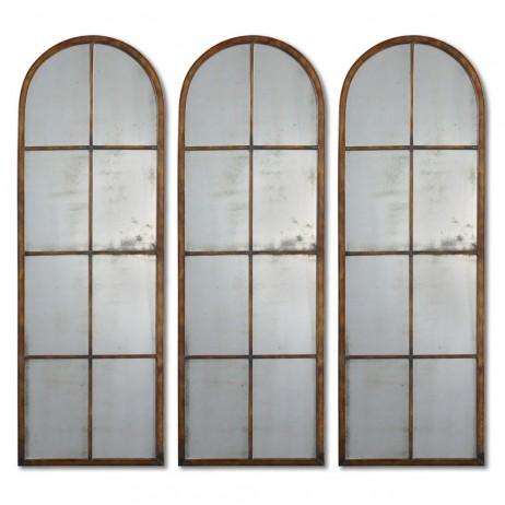 Amiel Arched Brown Mirror 13463 P