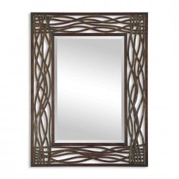 Dorigrass Brown Metal Mirror 13707