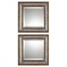 Norlina Squares Antique Mirror Set/2 13790