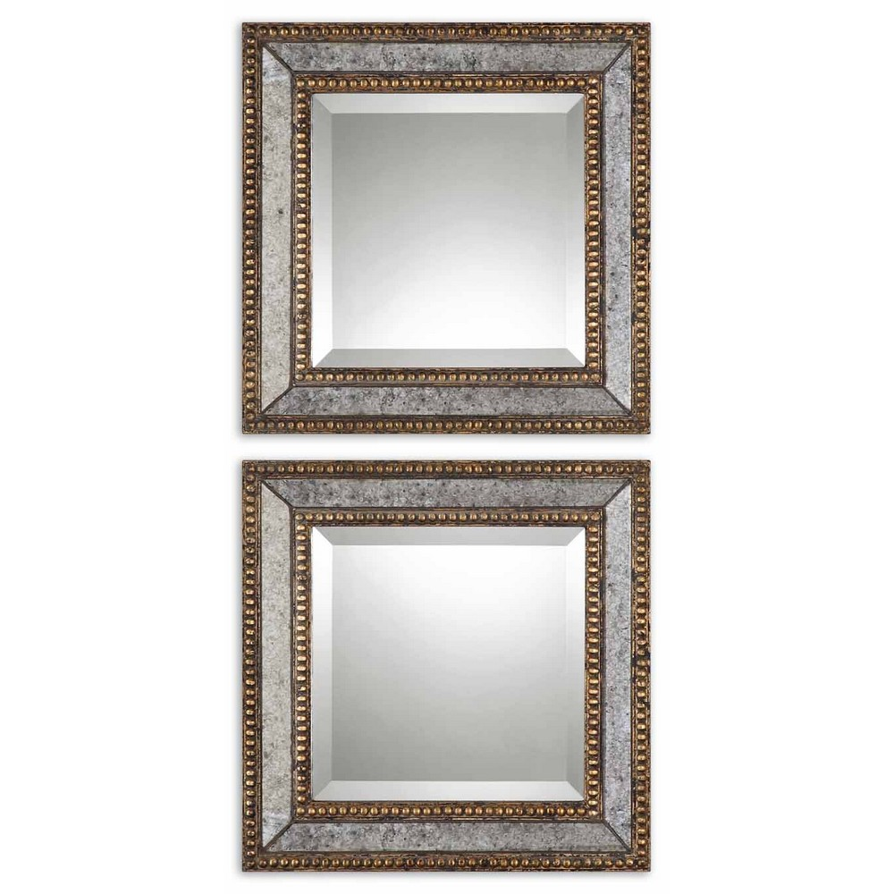 Mirrors Uttermost Norlina Squares Antique Mirror Set 2 13790