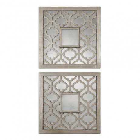 Sorbolo Squares Decorative Mirror Set/2 13808