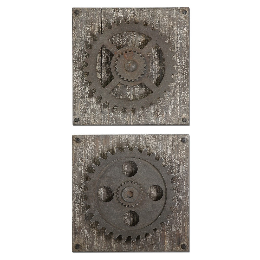 Alternative Wall Decor Uttermost Rustic Gears Wall Art
