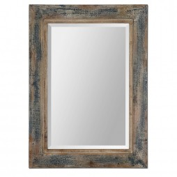 Bozeman Distressed Blue Mirror 13829