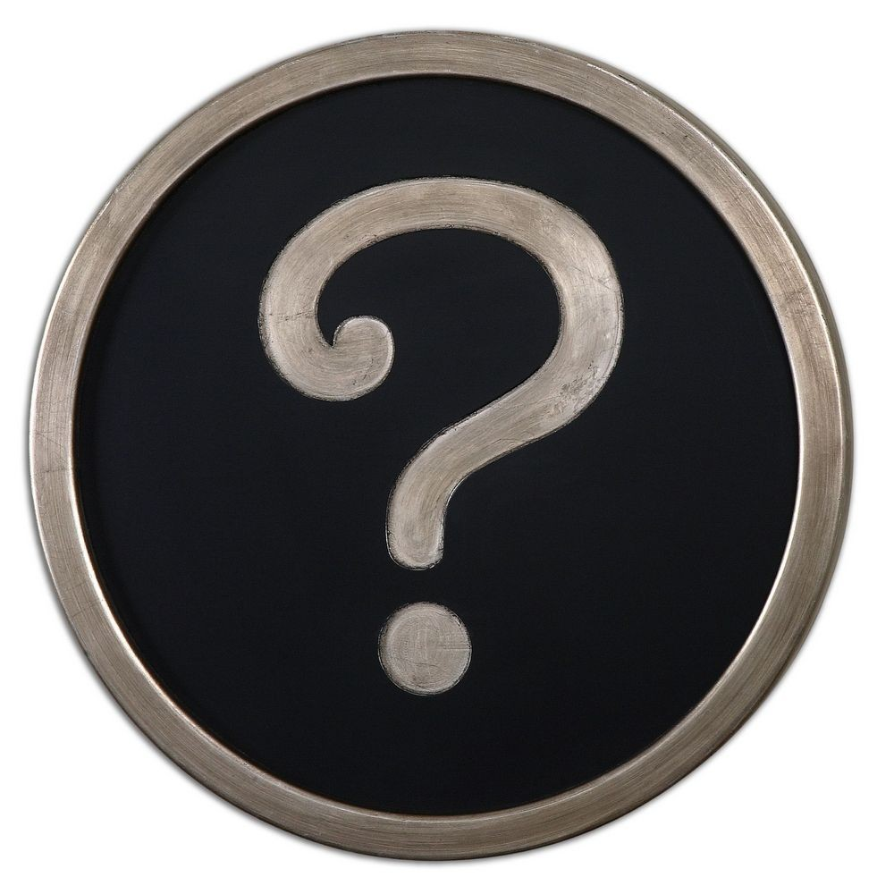 Home Accessories : Question Mark Wall Art : 13870