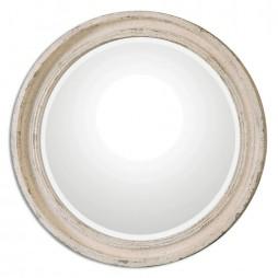Busalla Ivory Round Mirror 13904