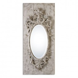 Guardia Gray-Ivory Oval Mirror 13927