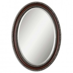 Montrose Oval Silver Mirror 14196