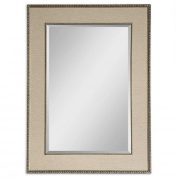 Marilla Beaded Silver Mirror 14463