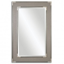Alfred Oversized Gray-Tan Mirror 14489