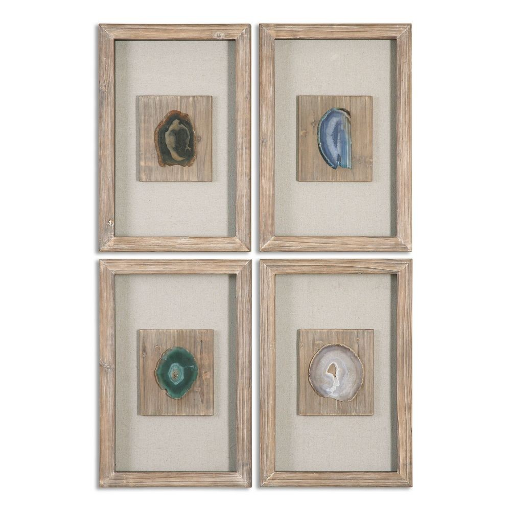 Home Home Accents Alternative Wall Decor Agate Stone S 4 14499