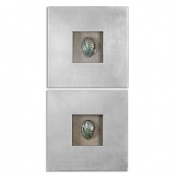 Abalone Shells Silver Wall Art